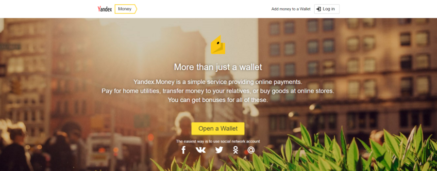 Strona Yandex.Money